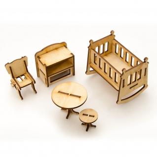 """Сборная деревянная модель мебели для кукол """"Детская"""" Теремок"""