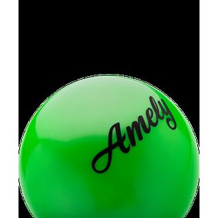 Мяч для художественной гимнастики Amely Agb-101, 15 см, зеленый