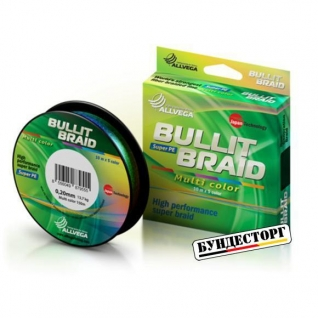 Леска плетеный шнур BULLIT BRAID MULTI COLOR
