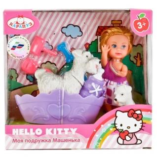 "Кукла ""Карапуз"" Hello Kitty. Машенька 12 См, С Питомцем, Ванной И Аксесс. В Русс."