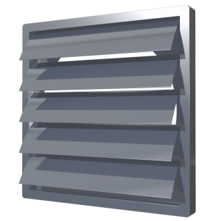 Решетка самозакрывающаяся ERA 1515К10Ф серый (44шт/уп)
