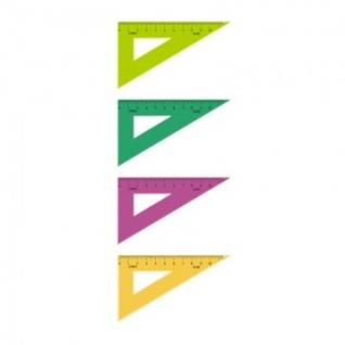 Линейка Треугольник  10 см угол 30 градусов пластик ТК-23 цвет ассорти