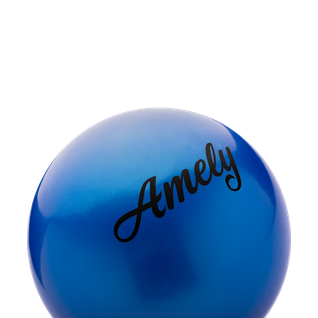 Мяч для художественной гимнастики Amely Agb-101, 19 см, синий
