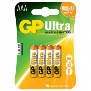 Батарейки GP Ultra AAA/LR03/24A GP24AU-2CR4 алкалин. бл/4шт