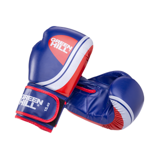 Перчатки боксерские Green Hill Knockout Bgk-2266, 10oz, к/з, синий