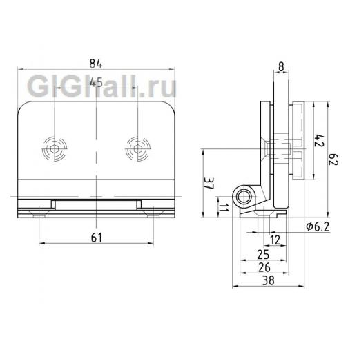 TI-83-4 AL Боковая петля на коробку 37013430 2