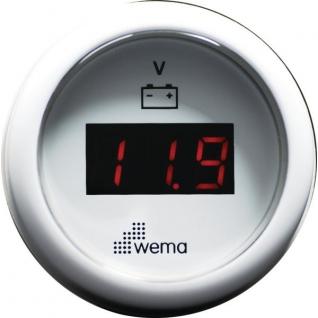 Wema Вольтметр цифровой с красным ЖК-экраном Wema IEVR-WW-8-32 8 - 32 В 52 мм
