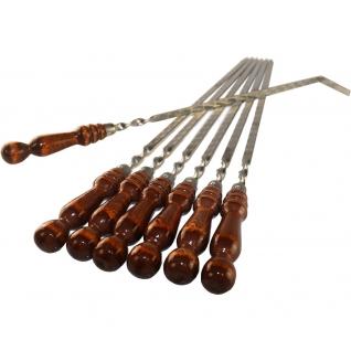 Набор шампуров 6 штук с ручкой no name
