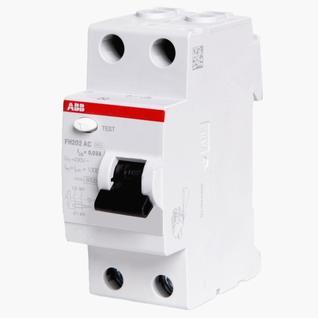 УЗО ABB (FH202 AC-25/0,03) 25А 30мА двухполюсный выключатель дифференциального тока