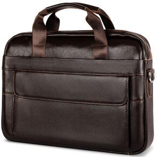 Портфель мужской GSMIN GL20 из натуральной кожи (Темно-коричневый)