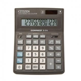 Калькулятор настольный ПОЛНОРАЗМЕРНЫЙ CITIZEN BusinessL CDB1401-BK14р.чер