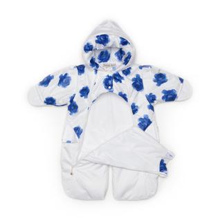 Конверт MalekBaby для новорожденного, Весна-Осень, синие розы+ белый 301Т