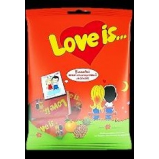 """Жевательная резинка  -  Ж/р """"Love is"""" апельсин - ананас, 5шт*4,2 гр  с магнитиком"""