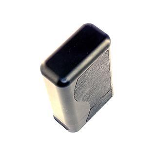 Металлический экранирующий футляр-чехол с дизайнерскими кожаными вставками Противоугонный экранирующий чехол для машин с бесключевым доступом DEKOM