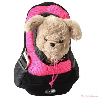 """Рюкзак переноска для собак """"Спорт"""" розовый (35см)"""