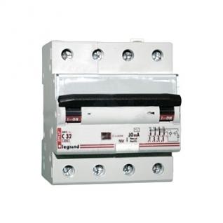 Дифференциальный автомат 4-полюсный 25А 30мА