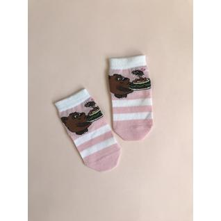 КВ001 носки детские розовый виннипух Красная Ветка (12-18) (12)