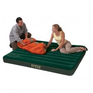 Надувной матрас-кровать Intex, встроенный насос