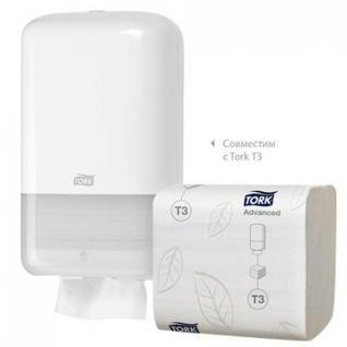 Бумага туалетная листовая д/дисп Tork T3 Premium 2сл.252л/30пач.114276