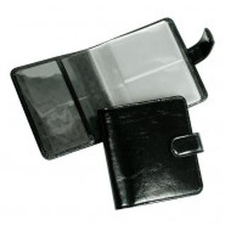 Визитница настольная,2 кармана,на 72 визитки,Grand,кож.черная,02-135-0713