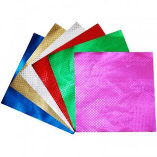 Бумага для творчества металлизирован.для оригами 6л.6цв.,20х20см.,ЦБМО66262