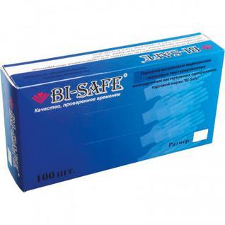 Мед.смотров. перчатки нитрил., н/с, н/о, Bi-Safe (ХL) 50 пар,голубые