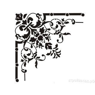 Трафарет виниловый КЕТТИ (арт. WA-389) для декорирования поверхностей