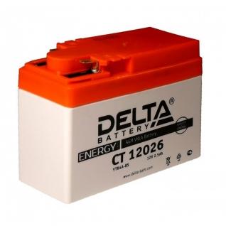 Аккумулятор DELTA CT 12026 2,5 Ач (A/h) - YTR4A-BS DELTA CT 12026