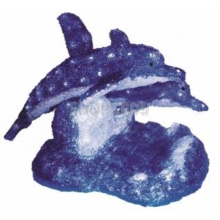 """Neon-Night Акриловая светодиодная фигура """"Синие дельфины"""" 65х48х48 см,136 светодиодов, IP44 понижающий трансформатор в комплекте, NEON-NIGHT"""
