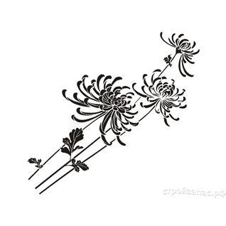 Трафарет виниловый ХРИЗАНТЕМА (арт. RLY-049) для декорирования поверхностей