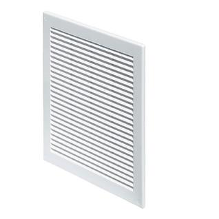 Решетка вентиляционная вытяжная 200*250 белая серия TRU Виенто
