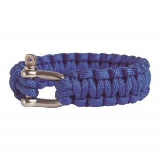 Made in Germany Браслет из паракорда с застежкой шириной 22 см, цвет синий
