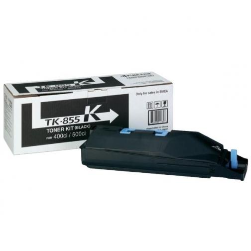 Картридж Kyocera TK-855K для Kyocera TASKalfa 400ci, TASKalfa 500ci, TASKalfa 552ci, оригинальный, чёрный, 25000 стр. 1345-01 852042
