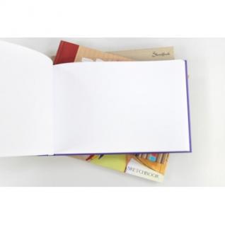 Скетчбук 246х167 с тв.обл. А5+,80л,100г/м2,7БЦ, мат.ламин.,Т5804475