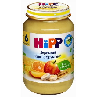 Зерновая каша HiPP с фруктами (с 6 мес.), 190 гр.
