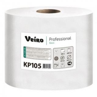 Полотенца бумажные д/держ.Veiro C1 Basic с ЦВ 1сл.300м 6рул/уп. KP105