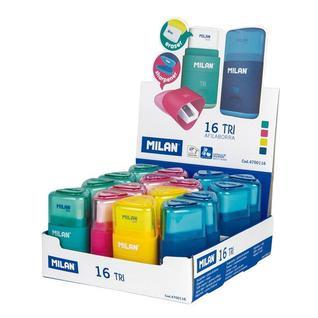 Ластик-точилка Milan TRI, пластик, цвет в ассорт. 4700116