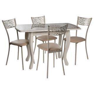 Обеденная группа для столовой и гостиной ДревПром Обеденная группа Альба мини, стул Эрго