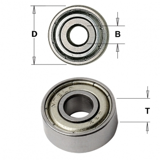 Подшипник D=12,7/4,76x5 без индивидуальной упаковки