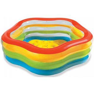 """Бассейн надувной Intex 56495np """"summer Colors Pool"""", 185х180х53см, 3+"""