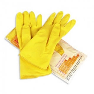 Перчатки резиновые PACLAN Professional латекс желтый р-р S