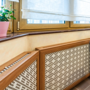 Декоративный экран с коробом Квартэк техно 620*1200*160(200) мм (пепел, белый, клен, дуб, бук, вишня, орех, махагон, венге)