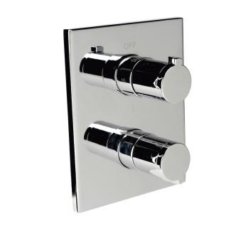 Внешняя часть смесителя для ванны-душа Clever NINE URBAN, термостат, 2 или 3 выхода, хром