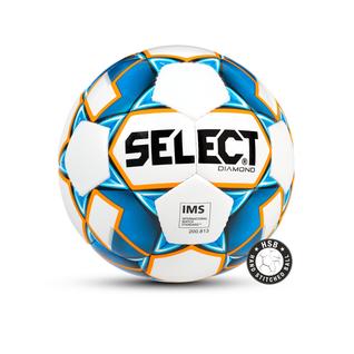 Мяч футбольный Select Diamond Ims 810015, №4 белый/синий/оранжевый (4)