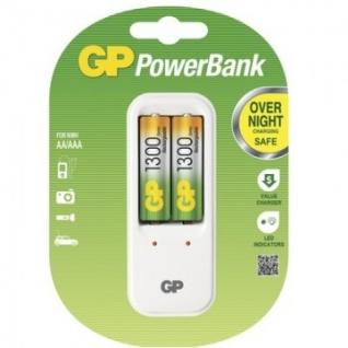 Зарядное устройство GP PB410GS130 2 слота в компл. 2 акк. 1300mAh