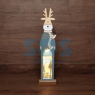 Neon-Night Деревянная фигурка с подсветкой «Рождественский олень» 11х5х47 см