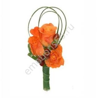 Бутоньерка с розой-2