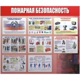 Информационное оборудование Пожарная безопасность 920х800 мм