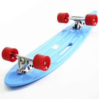 Скейт борд 4-колёсный Hubster Cruiser 36 синий с красными колесами