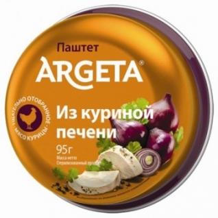 Мясные консервы Паштет из куриной печени Argeta 95г